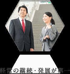 鹿児島中央会計事務所のモットー、経営の継続・発展が第一